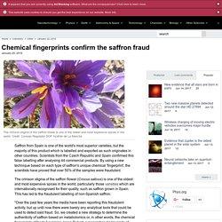 PHYS_ORG 20/01/16 Chemical fingerprints confirm the saffron fraud