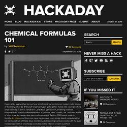 Chemical Formulas 101
