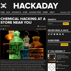 Chemical Hacking at a Store Near You