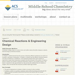 Chemical Reactions & Engineering Design