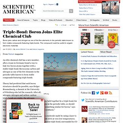 Triple-Bond: Boron Joins Elite Chemical Club