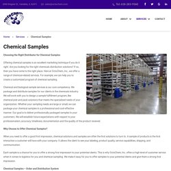 Choose OctoChem Inc. for Chemical Distribution Solutions
