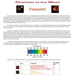 Chemical of the Week
