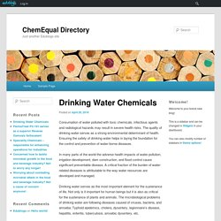Drinking Water Chemicals