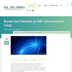 Beyond Toxic Chemicals are EMF's (Electromagnetic Fields)