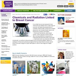 Chemicals and Radiation Linked to Breast Cancer