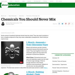 Chemicals You Should Never Mix