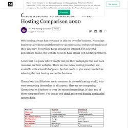 Chemicloud vs Bluehost — Web Hosting Comparison 2020