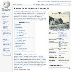 Chemin de fer de Hermes à Beaumont