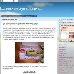 "Kit grammaire montessori ""fait maison"""