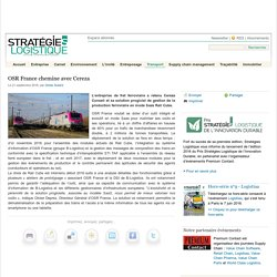 OSR France chemine avec Cereza - Stratégies Logistique