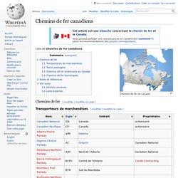Chemins de fer canadiens