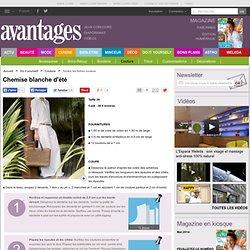Chemise blanche d'été - Magazine Avantages 10 63 138