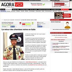 Le retour des chemises noires en Italie - AgoraVox le média cito