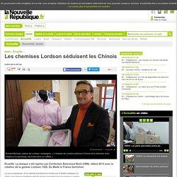 DONE Les chemises Lordson séduisent les Chinois - 23/01/2014