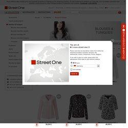 Nouveaux chemisiers & tuniques colorés - chez STREET ONE