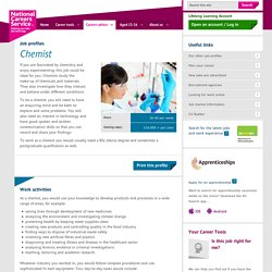 Chemist Job Information