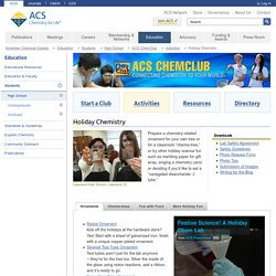 Holiday Chemistry - American Chemical Society