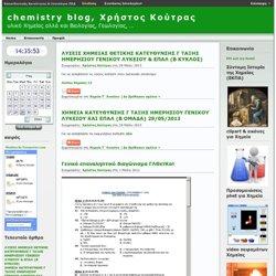 chemistry blog, Χρήστος Κούτρας