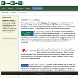 Chemistry Freeware