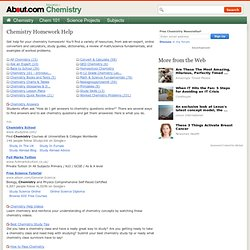Online homework help chemistry