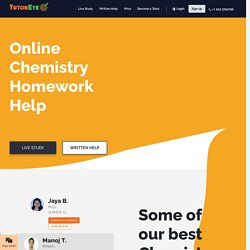24/7 Online Chemistry Homework Help