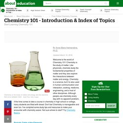 Chemistry 101 - Introduction and Index of Topics
