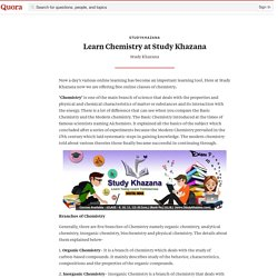 Learn Chemistry at Study Khazana