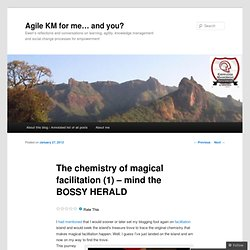 The chemistry of magical facilitation (1) – mind the BOSSY HERALD
