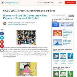Where to Find IB Chemistry Past Papers - Free and Official