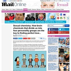 Sexual chemistry: How brain chemicals that divide us into four personality groups are the key to finding perfect love...