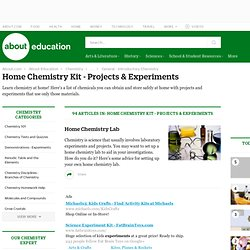 Home Chemistry Kit - Projects & Experiments