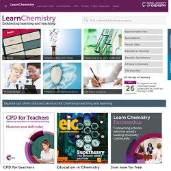 Chemistry resources for Teachers and Students