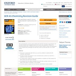 Chemistry: a spectacular reversible reaction. ocr as chemistry