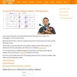 A Level H2 Chemistry Syllabus Videos - ChemGuru