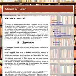 Chemistry Tuition: Why Study IP Chemistry?
