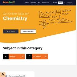 Find online Chemistry tutors near me