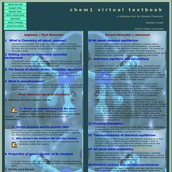 Chemistry Virtual Textbook