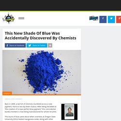 "Chemists ""Discover"" A New Bright Blue Pigment By Accident"