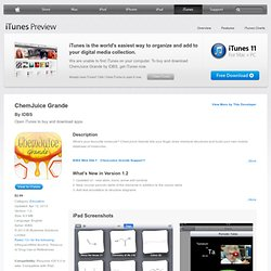 ChemJuice Grande for iPad on the iTunes App Store