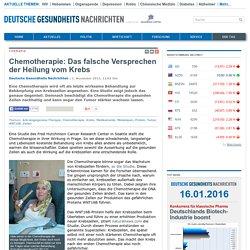 Chemotherapie: Das falsche Versprechen der Heilung vom Krebs