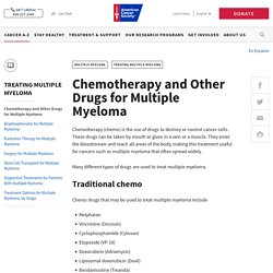 Chemotherapy and Other Drugs for Multiple Myeloma