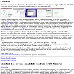 Chemtool development page