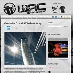 Chemtrail or Contrail: 50 Shades of Spray