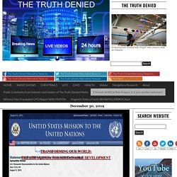 Agenda 21 is now AGENDA 2030: Addresses Chemtrails, Population Control, & The New World Order – The Truth Denied Alternative News