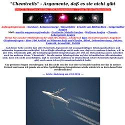 Chemtrails - Argumente, daß es sie nicht gibt