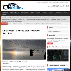 Chemtrails and the Lies between the Lines