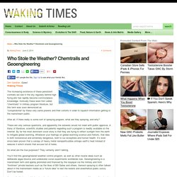 Who Stole the Weather? Chemtrails and Geoengineering