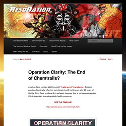 Operation Clarity: The End of Chemtrails?