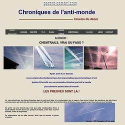 LES CHEMTRAILS : VRAI OU FAUX - GERARDCAMBRI.COM
